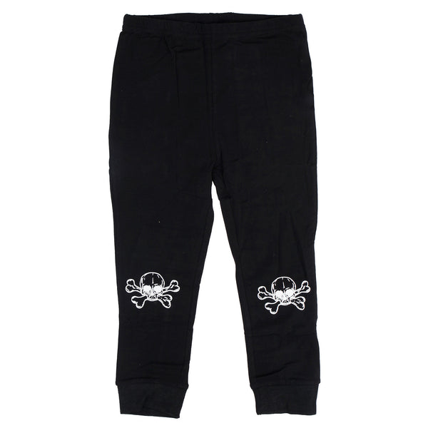Black leggings with Skull print knee