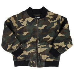 Ministylin basic kids wear childrens camouflage bomber jacket