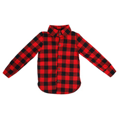 Checked black and red shirt