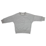 Ministylin children's and baby grey soft sweatshirt with long sleeves and pocket detail