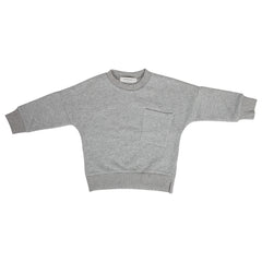 Grey pocket unisex sweatshirt