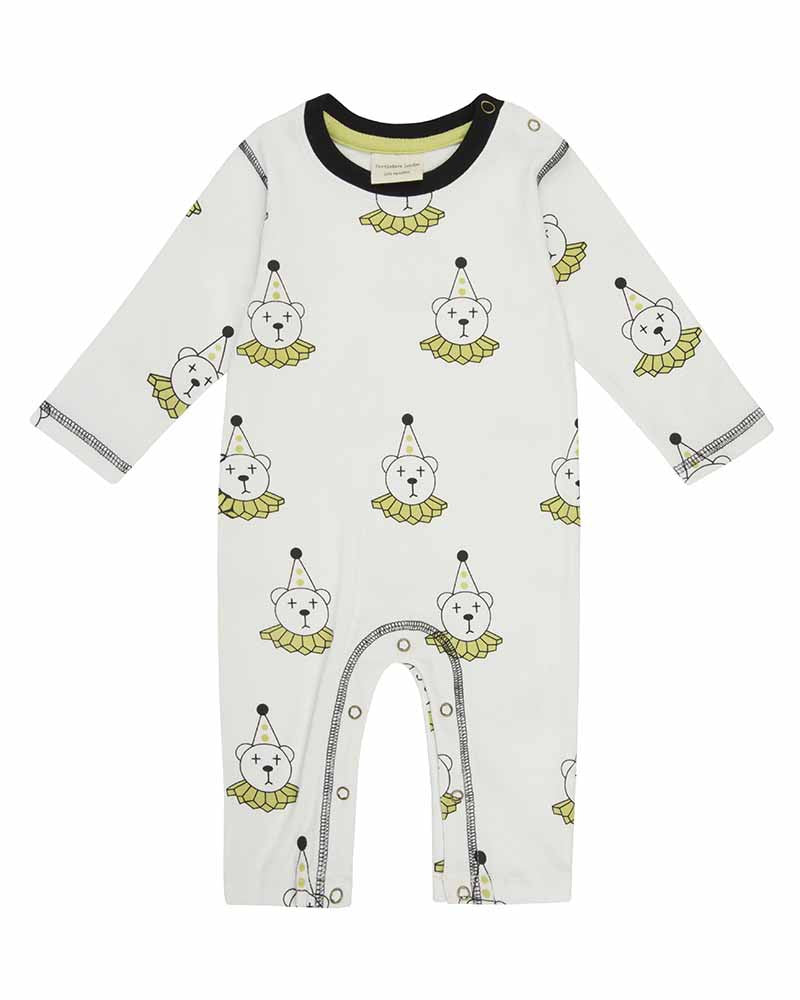 Clown bear playsuit