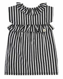 Woven Stripe Insert Shift Dress
