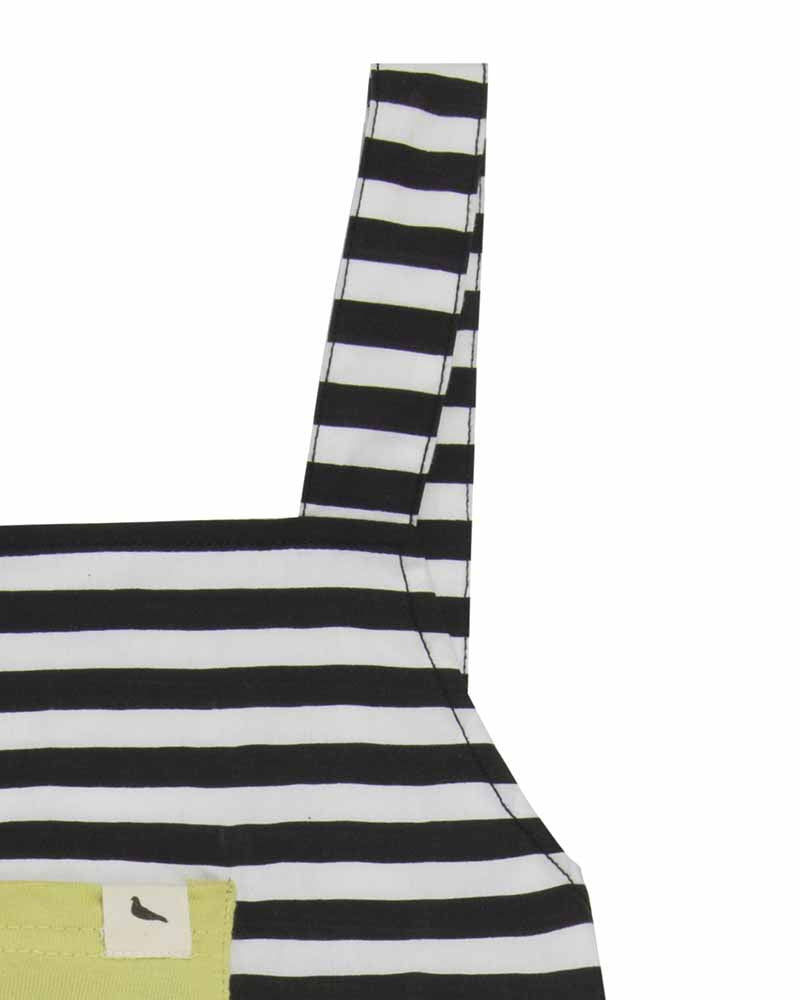 Woven Stripe Shortie Dungaree