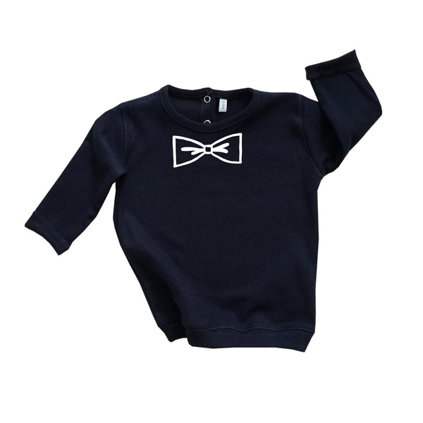 Organic Zoo Navy Bow Sweatshirt