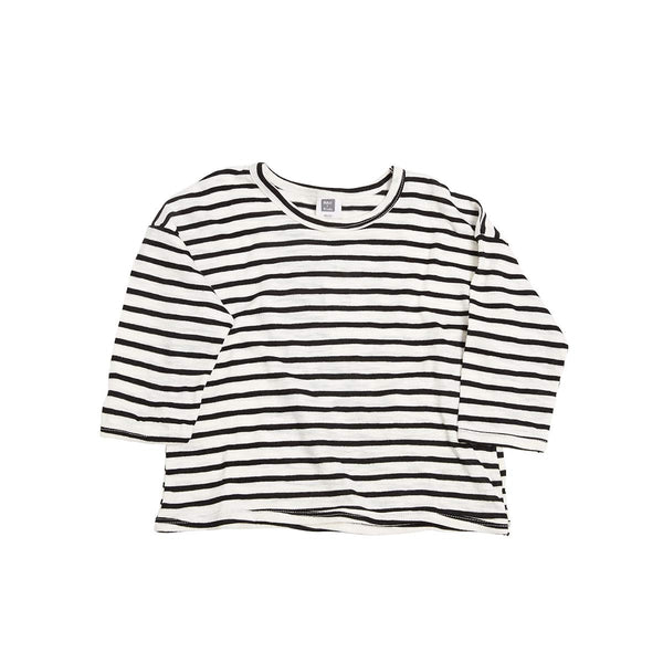 Stripe three-quarter sleeve top