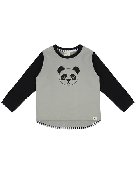 Turtledove London Panda drop hem sweatshirt