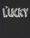 Turtledove London Bee Lucky Top Black Wording