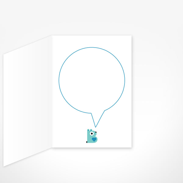 Dada Bear Greeting Card