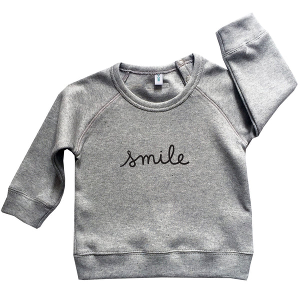 Organic Zoo Grey Smile Sweatshirt