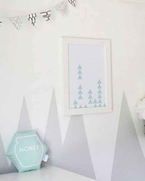 Pastel Triangle Art Print