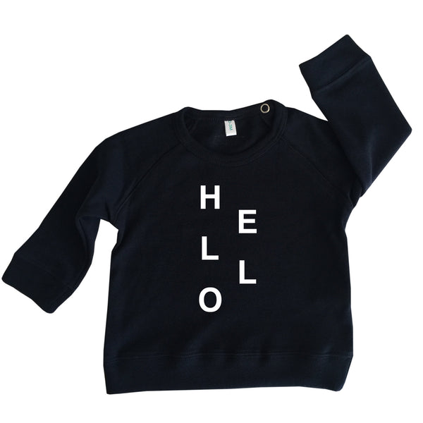 Organic Zoo Navy Hello Sweatshirt