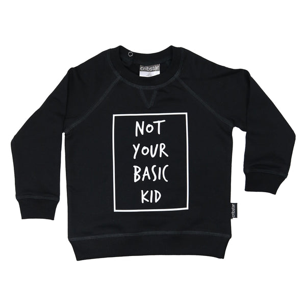 Not your basic kid Sweatshirt in Black