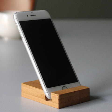 Custom Bamboo Phone Stand
