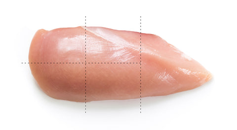 How to cut up a chicken breast for kebabs