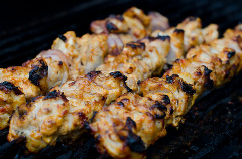 Chicken Taouk on the barbecue