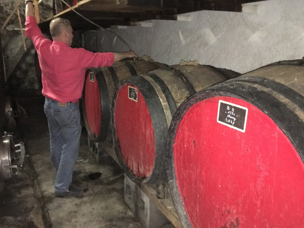 Tasting Maury From Barrel At Domaine De La Coume Du Roy