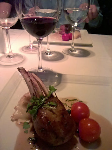 Rack of lamb, potato dauphinoise and mint jus paired with Château Canet Minervois La Chapelle