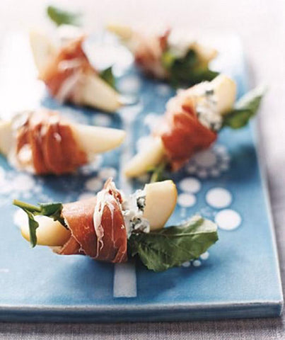 Pears With Gorgonzola And Prosciutto Crudo