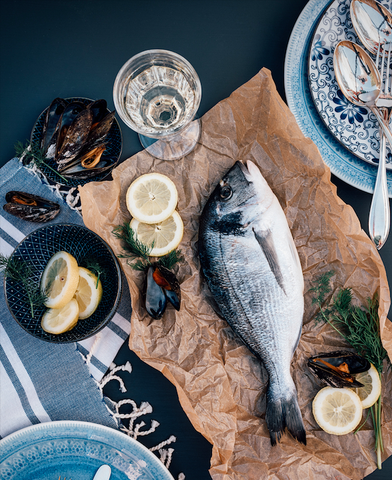 Sea bream with lemon