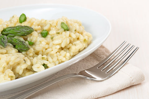 Asparagus and mint risotto recipe