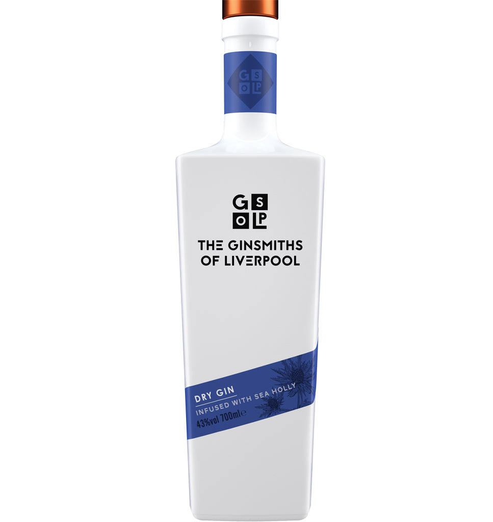 The Ginsmiths of Liverpool Dry Gin Infused with Sea Holly