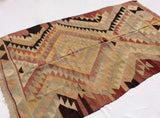 Turkish Kilim rug with Earth tone colors 7,5 x 4,6 feet - Sophie's Bazaar - 5
