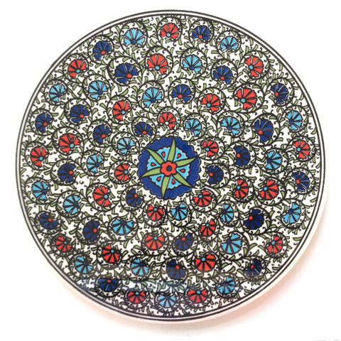 Floral Ceramic Trivet made in Turkey - Sophie's Bazaar - 1