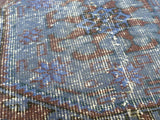 Blue Recolored runner rug, 11,5 * 2,5' - Sophie's Bazaar - 3