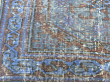 Blue Recolored runner rug, 11,5 * 2,5' - Sophie's Bazaar - 4