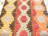 "Bright Colorful Kilim area Rug 10'43"" x 5'74"" - Sophie's Bazaar - 4"