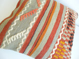Kilim Pillow Cover with Stripes - Sophie's Bazaar - 5
