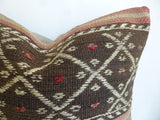 Bohemian Kilim Pillow Cover with Ethnic Stripes - Sophie's Bazaar - 4