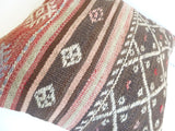 Bohemian Kilim Pillow Cover with Ethnic Stripes - Sophie's Bazaar - 5