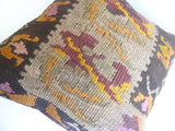 Brown Kilim Pillow Cover - Sophie's Bazaar - 5