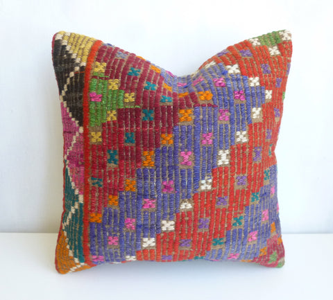 Colorful Ethnic Kilim Pillow Cover - Sophie's Bazaar - 1