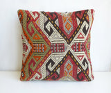 Colorful Cicim Pillow Cover with Ethnic design - Sophie's Bazaar - 2