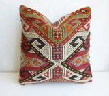 Colorful Cicim Pillow Cover with Ethnic design - Sophie's Bazaar - 1