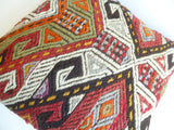 Colorful Cicim Pillow Cover with Ethnic design - Sophie's Bazaar - 5