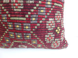 Burgundy Kilim Pillow Cover - Sophie's Bazaar - 3