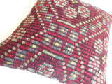 Burgundy Kilim Pillow Cover - Sophie's Bazaar - 5