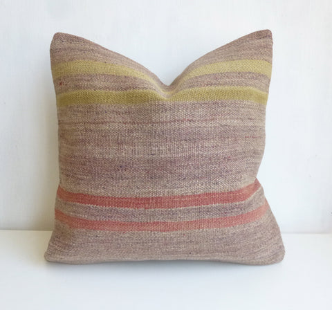 Original Kilim Pillow Cover with Stripes - Sophie's Bazaar - 1