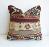 Original Kilim Pillow Cover with Ethnic Stripes - Sophie's Bazaar - 2