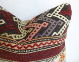 Original Kilim Pillow Cover with Ethnic Stripes - Sophie's Bazaar - 3