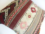 Original Kilim Pillow Cover with Ethnic Stripes - Sophie's Bazaar - 5