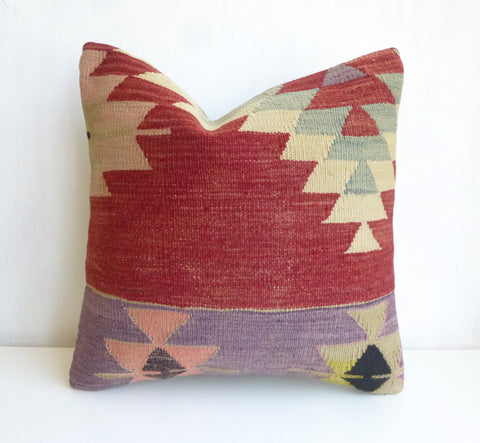 Kilim Pillow Cover with Ethnic design - Sophie's Bazaar - 1