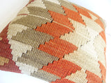 Kilim Pillow Cover with gorgeous Earth Tone Ethnic design - Sophie's Bazaar - 5