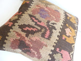Brown Rustic Kilim Pillow Cover - Sophie's Bazaar - 5