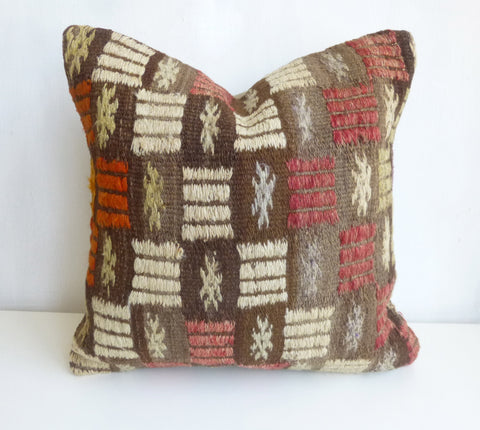 Cicim Pillow Cover with Colorful Ethnic design - Sophie's Bazaar - 1