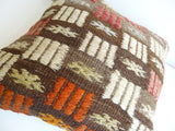 Cicim Pillow Cover with Colorful Ethnic design - Sophie's Bazaar - 5